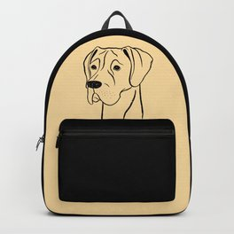 Great Dane (Fawn and Black) Backpack