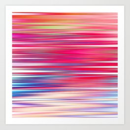 pink abstract with horizontal stripes Art Print
