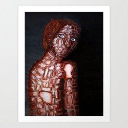 Girl of Bricks Art Print
