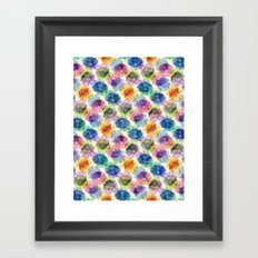 Funnel Flower Pattern Framed Art Print
