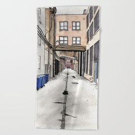 Alley in Ravenswood, Chicago Beach Towel