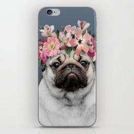 Hippie Pug iPhone Skin
