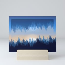 Winter Pines Reflected Mini Art Print