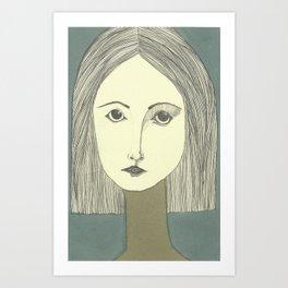 grey portrait Art Print