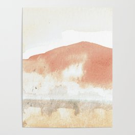 Terra Cotta Hills Abstract Landsape Poster