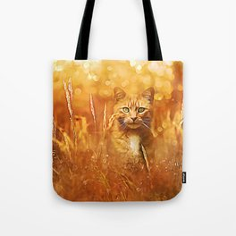 Little Tiger in the Grass Tote Bag