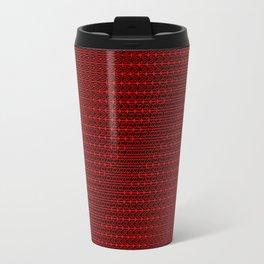 """42 + 42 × Cos(42  i ÷ (j + n + k + 0.001))    [""""42 Negative Space""""] Travel Mug"""