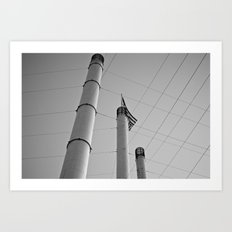 Stacks & Lines Art Print