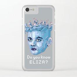 A.I. ELIZA Clear iPhone Case