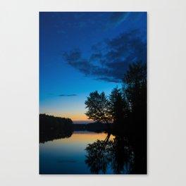 Dusk on Snowbird Lake Canvas Print