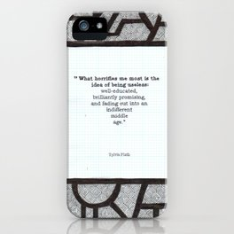 What Horrifies Me iPhone Case