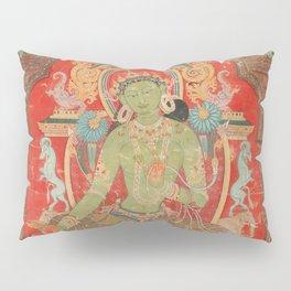 Green Tara 13th Century Tibetan Art Pillow Sham