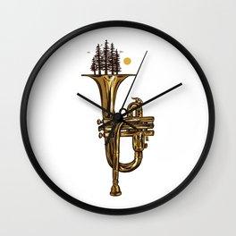 Flora & Fanfare Wall Clock
