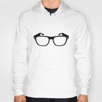 glasses Hoodies featuring Glasses by Bjarni Bragason