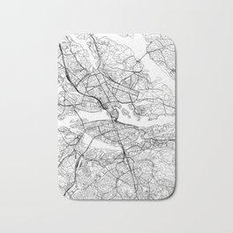 Stockholm White Map Bath Mat