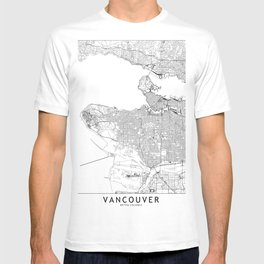Vancouver White Map T-shirt