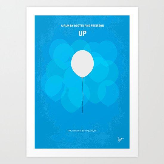 No134 My UP minimal movie poster Art Print