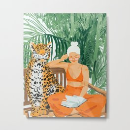 Jungle Vacay #painting #illustration Metal Print