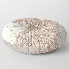 Vintage Map of New Jersey (1845) Floor Pillow