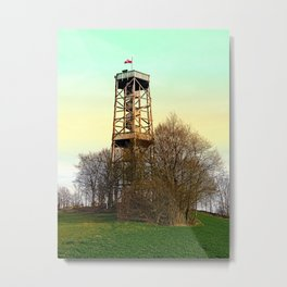 Observation tower in vivid colors | architectural photography Metal Print