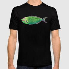 One Fish MEDIUM Mens Fitted Tee Black