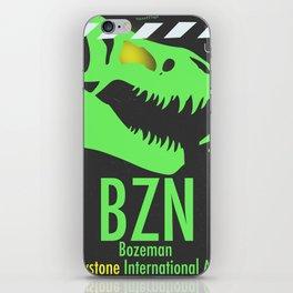 BZN Bozeman Yellowstone airport code iPhone Skin