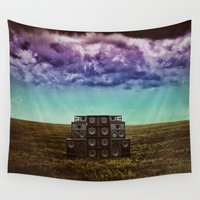 sonic Wall Tapestries featuring Sonic Field by Liall Linz