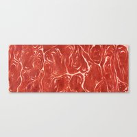 meat Canvas Prints featuring Meat! by Tiffany Chan Illustration
