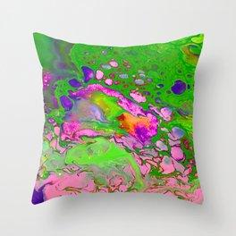Green Acid Throw Pillow