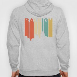 Retro 1970's Style Raleigh North Carolina Skyline Hoody