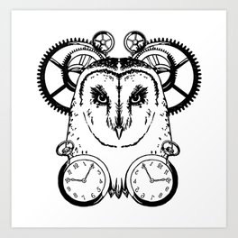 Clockwork Owl Art Print
