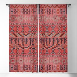 Vintage Berber Desert Traditional Boho Moroccan Style Artwork Blackout Curtain