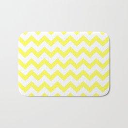 Chevron (Yellow & White Pattern) Bath Mat