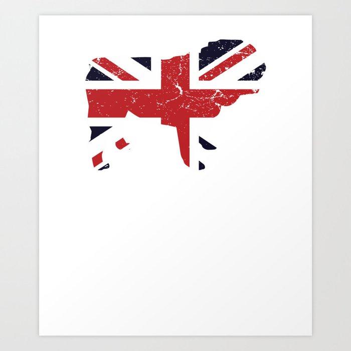 Union Jack Pug United Kingdom Flag Art Print By Teepsy