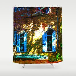 Secret Garden Castle Windows Shower Curtain