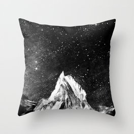 mont gore - mountain and star Throw Pillow
