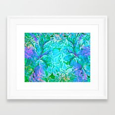 Tropical Breeze Floral Abstract Framed Art Print