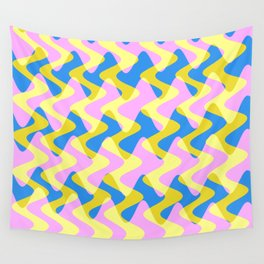 Crosswave Pink - Electron Series 003 Wall Tapestry