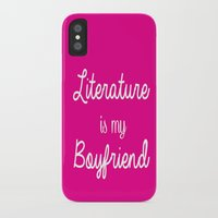 literature iPhone & iPod Cases featuring literature is my boyfriend pink by Beautiful Bibliophile's Boutique