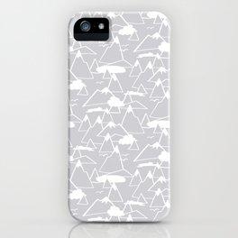 Mountain Scene in Grey iPhone Case