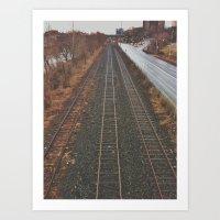 Down by the Tracks Art Print