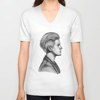 dylan V-neck T-shirts featuring Dylan by Emily Smith (Emzstuff)