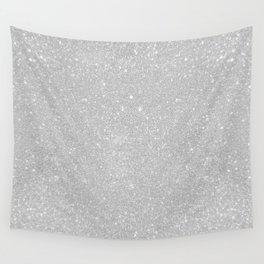 Pastel Grey Glitter Wall Tapestry