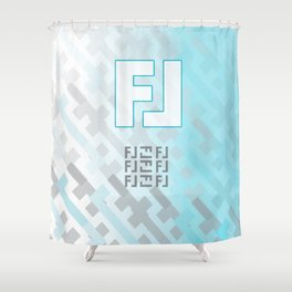 FL Design Blue Shower Curtain