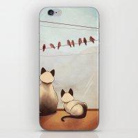 friendship iPhone & iPod Skins featuring Friendship by Naomi VanDoren