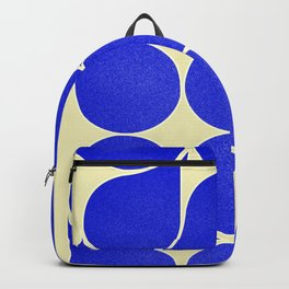 Blue mid-century shapes no8 Backpack