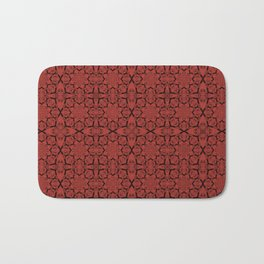 Aurora Red Geometric Bath Mat