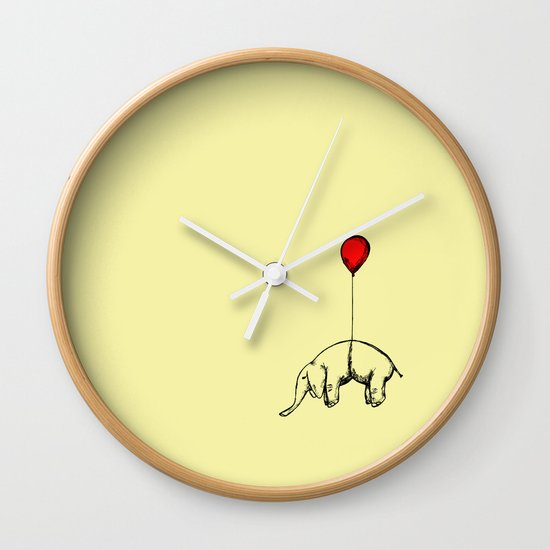 Red Elephant Wall Clock