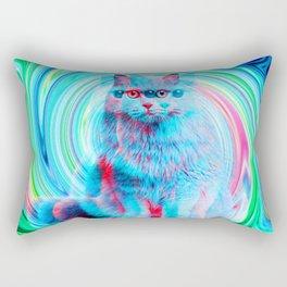 Confusion Cat Rectangular Pillow