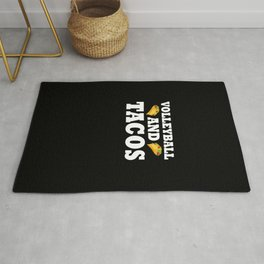 Volleyball and Tacos Gift Funny Taco Volleyball Team Gift  Rug